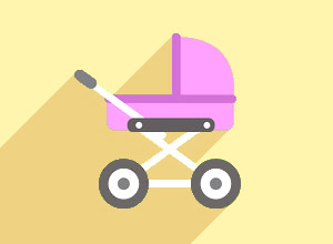 Illustration Kinderwagen