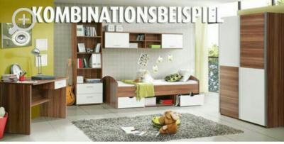 welche wandfarbe passt zu wallnuss wei en kinderm beln forum einrichten und deko. Black Bedroom Furniture Sets. Home Design Ideas