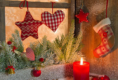 Fensterdeko f r die weihnachtszeit for Weihnachtliche dekoration