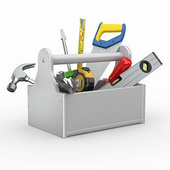 Selbst ist die frau der werkzeugkasten - Clipart bricolage ...